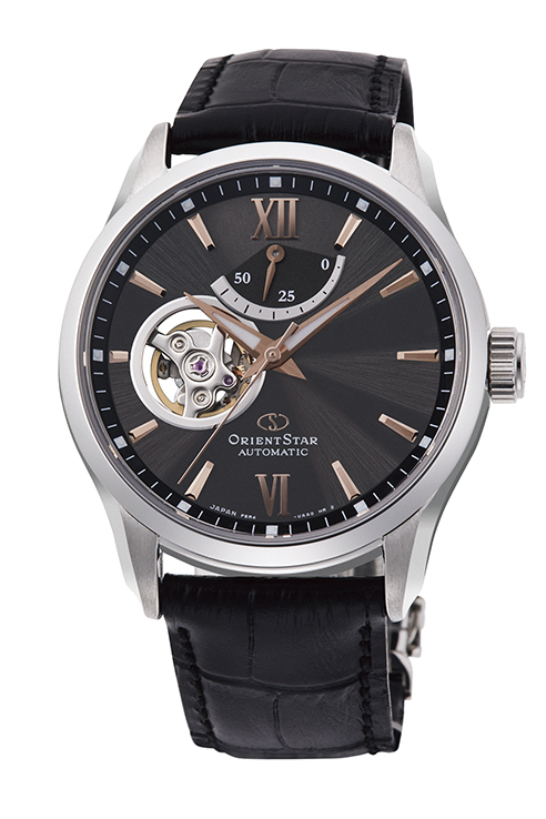 ORIENT STAR: Mechanical Contemporary Watch, Leather Strap - 39.3mm (RE-AT0007N)