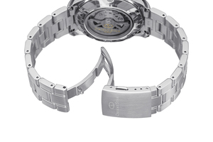 ORIENT STAR: Mechanical Contemporary Watch, Metal Strap - 39.3mm (RE-AT0001L)