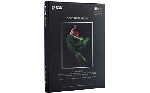 "Epson Cold Press Bright 17"" x 22"" 25 pack"