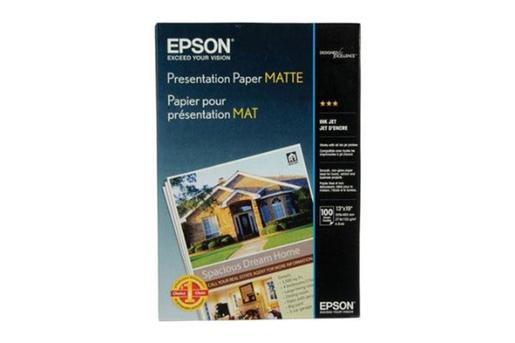 "Epson Presentation Paper Matte, 13"" x 19"", 100 sheets"