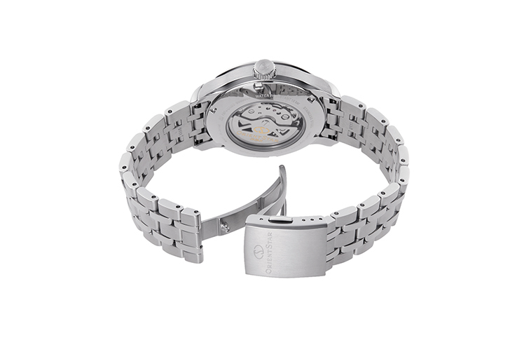 ORIENT STAR: Mechanical Contemporary Watch, Metal Strap - 41.0mm (RE-AV0B03B)