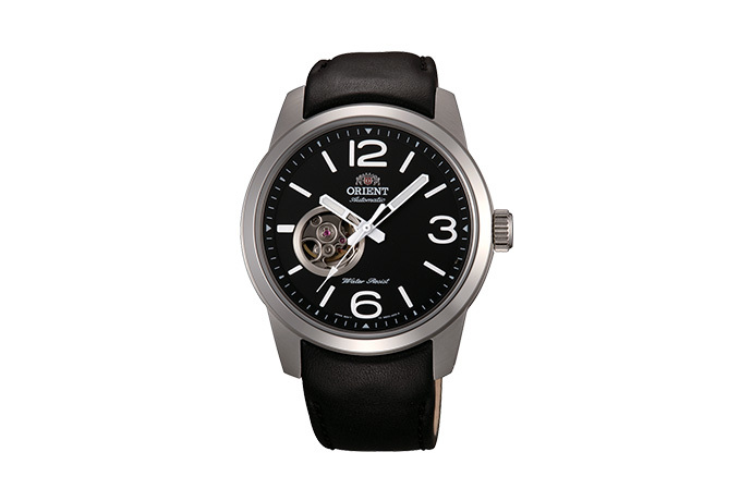 ORIENT: Mechanical Sports Watch, Leather Strap - 42.5mm (DB0C003B)