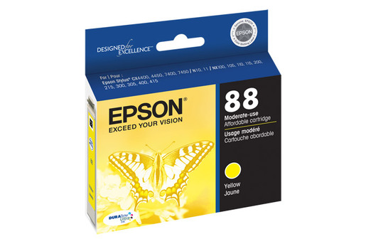 Epson 88, Yellow Ink Cartridge, Moderate Capacity