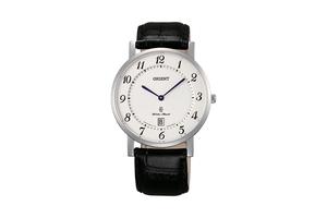 Orient: Cuarzo Clásico Reloj, Cuero Correa - 38.0mm (GW0100JW)