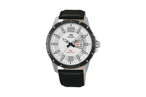 Orient: Cuarzo Sports Reloj, Cuero Correa - 43.0mm (UG1X003W)