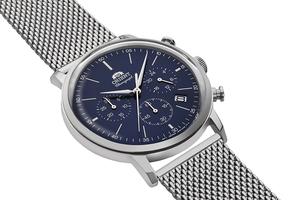 ORIENT: Quartz Classic Watch, Metal Strap - 42.4mm (RA-KV0401L)