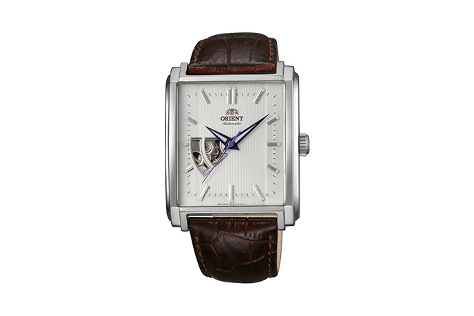 ORIENT: Mechanical Contemporary Watch, Leather Strap - 35.5mm (DBAD005W)