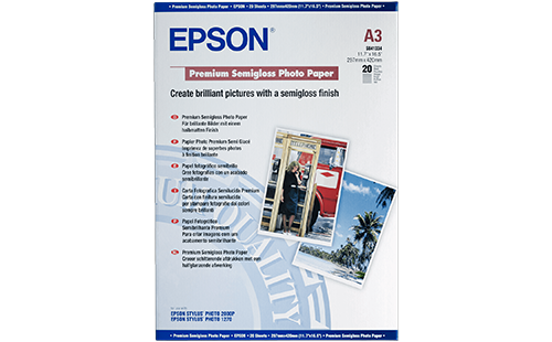 Epson Premium Semigloss Photo Paper - A3 20 Sheets