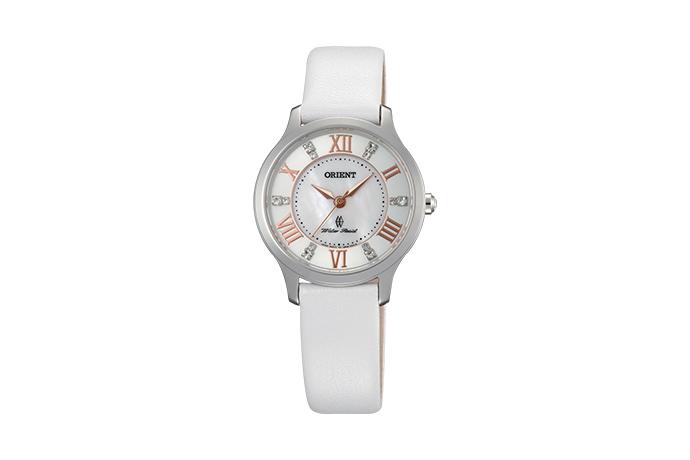 Orient: Cuarzo Contemporary Reloj, Cuero Correa - 30.5mm (UB9B005W)
