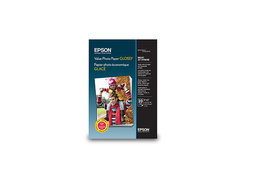 Value Photo Paper Glossy, 10x15 cm, 20 folhas