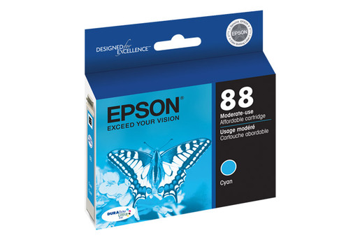 Epson 88, Cyan Ink Cartridge, Moderate Capacity