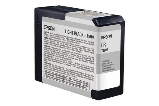 Epson T580, 80 ml Light Black UltraChrome K3 Ink Cartridge
