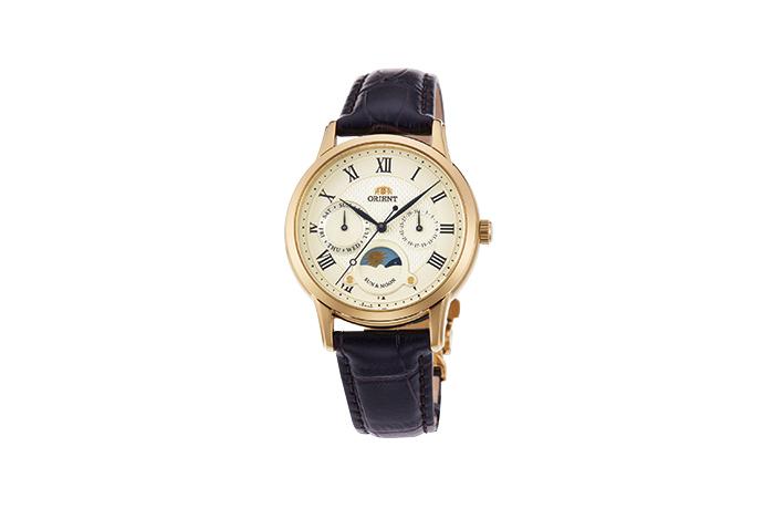 ORIENT: Cuarzo Clásico Reloj, Cuero Correa - 34.8mm (RA-KA0003S)