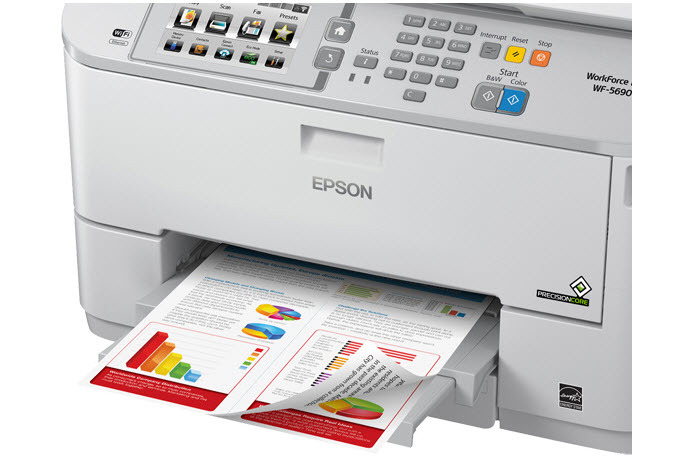 Epson WorkForce Pro WF-5690 Network Multifunction Color Printer with PCL/Adobe PS