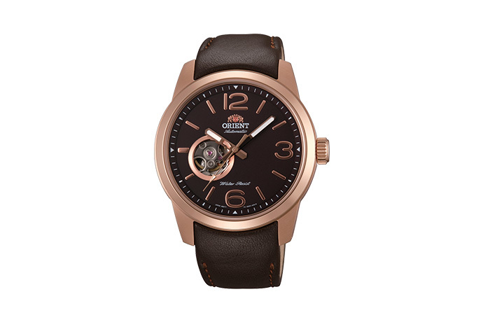 ORIENT: Mechanical Sports Watch, Leather Strap - 42.5mm (DB0C002T)