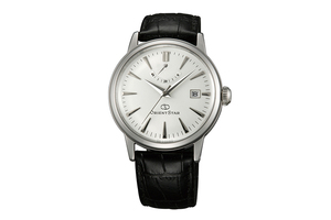 ORIENT STAR: Mechanical Classic Watch, Leather Strap - 38.5mm (AF02004W)