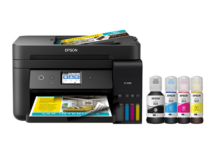 EcoTank ET-4760 All-in-One Cartridge-Free Supertank Printer - Black
