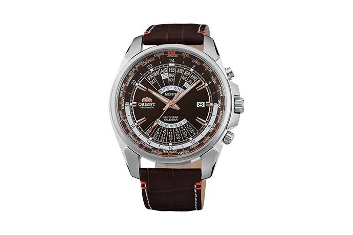ORIENT: Mechanical Sports Watch, Leather Strap - 45.0mm (EU0B004T)