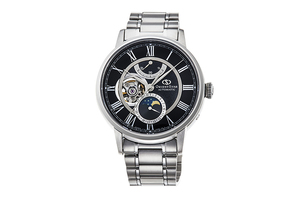 ORIENT STAR: Mechanical Classic Watch, Metal Strap - 41mm (RE-AM0004B)