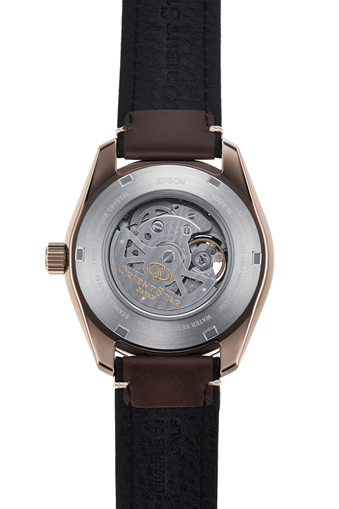 ORIENT STAR: Mecánico Sports Reloj, Cuero Correa - 43.2mm (RE-AV0A04B)
