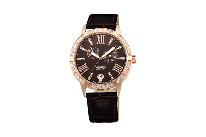 ORIENT: Mechanical Contemporary Watch, Leather Strap - 37.0mm (ET0Y001T)