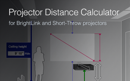 Projection Distance Calculator Selection Epson Us