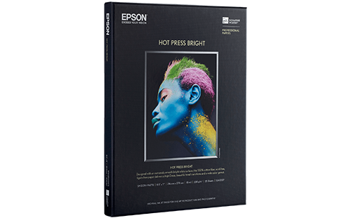 "Epson Hot Press Bright 81/2"" x 11"" 25 pack"