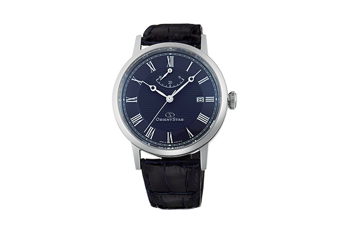 ORIENT STAR: Mechanical Classic Watch, Leather Strap - 38.7mm (EL09003D)