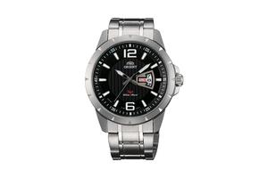 Orient: Cuarzo Sports Reloj, Metal Correa - 43.0mm (UG1X004B)