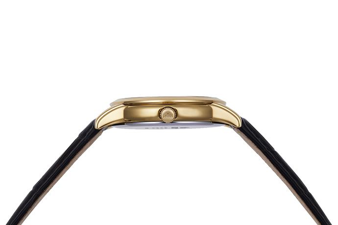 ORIENT: Kwarcowy Klasyczny Zegarki, Skórzany Pasek - 34.8mm (RA-KA0003S)