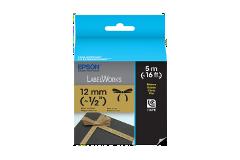 Fita LC de Tecido-Preto sobre Dourado-12mm