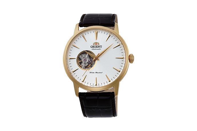 ORIENT: Mechanisch Modern Uhr, Leder Band - 41.0mm (AG02003W)