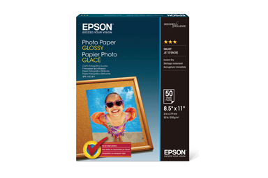 """Photo Paper Glossy, 8.5"""" x 11"""", 50 sheets"""