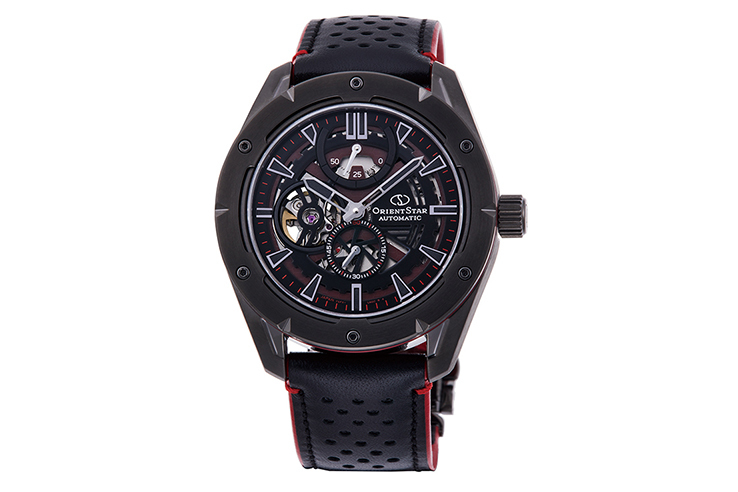 ORIENT STAR: Mechanical Sports Watch, Leather Strap - 43.2mm (RE-AV0A03B)