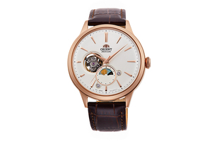 ORIENT: Mechanical Classic Watch, Leather Strap - 41.5mm (RA-AS0102S)