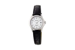 Orient: Cuarzo Contemporary Reloj, Cuero Correa - 25.0mm (SZ2F005W)