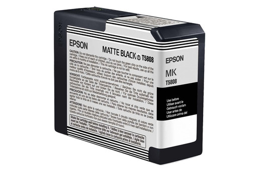 Epson T580, 80 ml Matte Black UltraChrome K3 Ink Cartridge