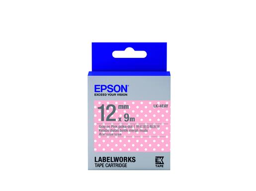 Pattern 點紋系列LK-4EAY粉紅/白點底灰字