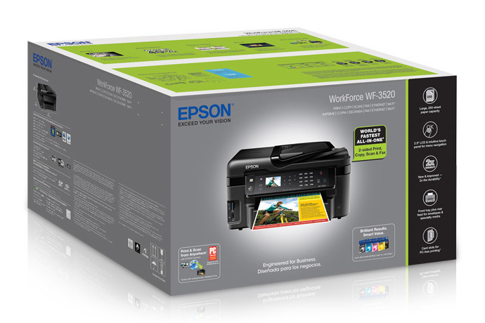 Epson workforce wf-3520 | workforce series | all-in-ones.