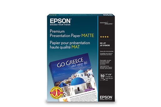 "Premium Presentation Paper Matte, Borderless, 11"" x 14"", 50 sheets"
