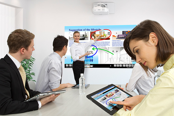 BrightLink Pro 1420Wi Collaborative Whiteboarding Solution