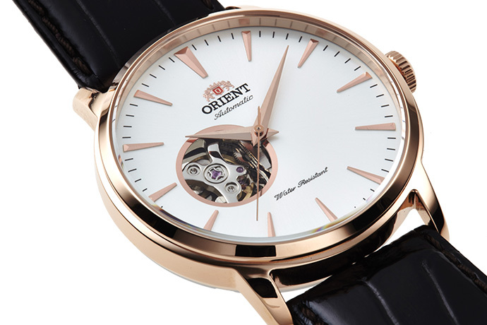 ORIENT: Mechanical Contemporary Watch, Leather Strap - 41.0mm (AG02002W)