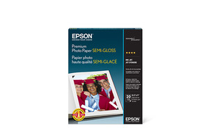 "Premium Photo Paper Semi-gloss, 8.5"" x 11"", 20 sheets"