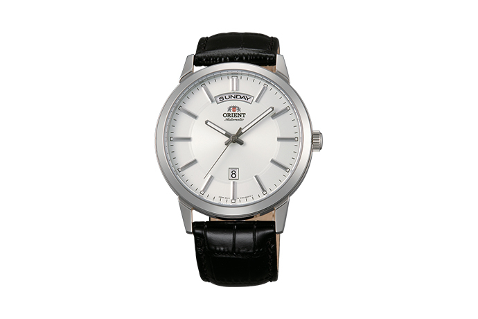 ORIENT: Mechanisch Modern Uhr, Leder Band - 42.0mm (EV0U003W)