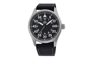 ORIENT: Mechanical Sports Watch, Leather Strap - 42.4mm (RA-AC0H03B)