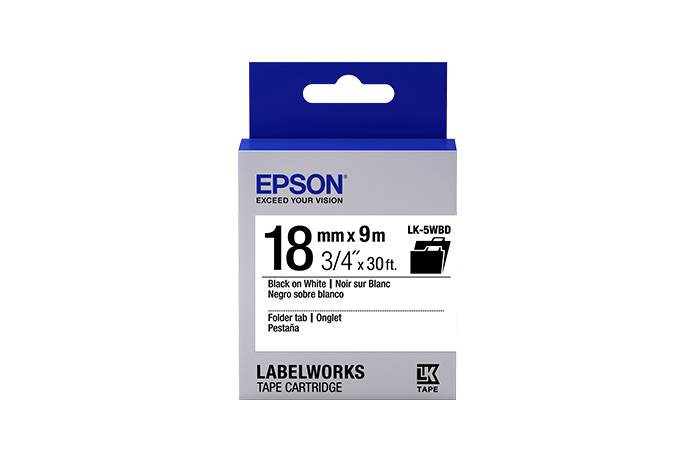 LabelWorks Folder Tab LK Tape Cartridge ~3/4