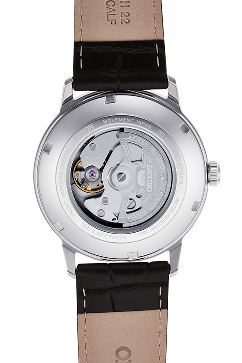 ORIENT: Mechanical Contemporary Watch, Leather Strap - 41.6mm (RA-AC0F12S)