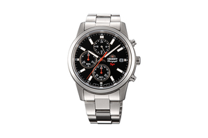 Orient: Cuarzo Sports Reloj, Metal Correa - 42.0mm (KU00002B)