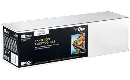 "Epson Exhibition Canvas Gloss 13"" x 20' 1 Roll"