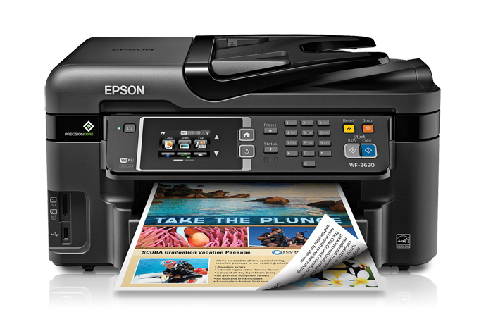 graphic regarding Laser Printable Magnetic Sheets named Epson Personnel WF-3620 All-in just-A single Printer Inkjet